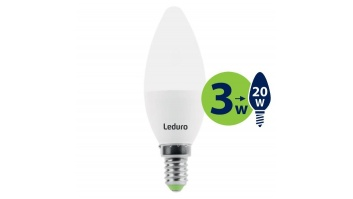 Light Bulb|LEDURO|Power consumption 3 Watts|Luminous flux 200 Lumen|2700 K|220-240V|Beam angle 360 degrees|21130