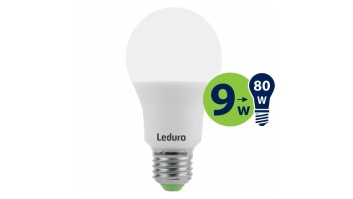 Light Bulb|LEDURO|Power consumption 9 Watts|Luminous flux 800 Lumen|2700 K|220-240V|Beam angle 360 degrees|21196