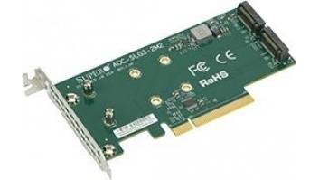 SERVER ACC NVME AOC CARD/AOC-SLG3-2M2-O SUPERMICRO