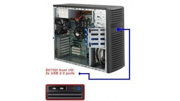 SERVER CHASSIS TOWER 500W EATX/CSE-732I-500B SUPERMICRO