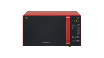 DAEWOO Microwave oven with Grill KQG-663R 20 L, Grill, Electronical, 700 W, Red /Black, Free standing, Defrost function