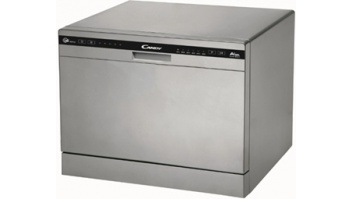 Candy Dishwasher CDCP 6/E-S Table, Width 55 cm, Number of place settings 6, Number of programs 6, A+, Silver