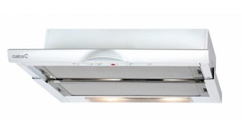Hood CATA TF-5260/D WH Mechanical panel, Width 60 cm, 310 m³/h, White, Energy efficiency class F, 65 dB, Built-in telescopic