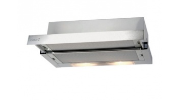 CATA Hood TF 2003 Duralum 600 Mechanical panel, Width 60 cm, 390 m³/h, Stainless steel, Energy efficiency class C, 57 dB, Built-in telescopic