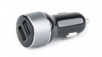 Gembird EG-U2QC3-CAR-01 2-port USB car quick charger Car charger, 5 V