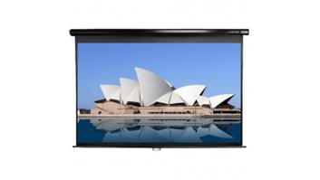 "Elite Screens Manual Series M99UWS1 Diagonal 99 "", 1:1, Viewable screen width (W) 178 cm, Black"