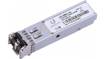 Ubiquiti UF-MM-1G SFP, Multi-Mode Fiber, Dual LC, 10/100/1000 Mbit/s, Wavelength 850 nm, Maximum transfer distance 550 m, (2-Pack), 0 to +70C