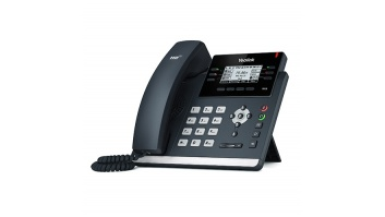 "Yealink SIP-T41S IP Phone, 2.7"" 192x64-pixel graphical LCD with backlight, 6 VoIP accounts"