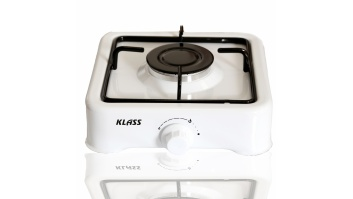 Klass Cooker K 01 S Number of burners/cooking zones 1, White, Gas