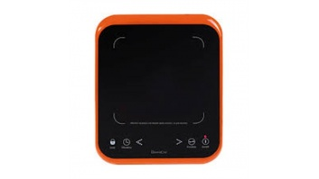 DomoClip Free standing table hob DOC120 Number of burners/cooking zones 1, Touch, Black/ red, Vitroceramic