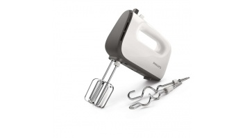Philips Hand mixer HR3740/00 White/Grey, 450 W, Corded, Number of speeds 5, Shaft material Stainless steel