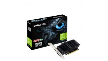 Gigabyte Low Profile NVIDIA, 2 GB, GeForce GT 710, GDDR5, PCI Express 2.0, Processor frequency 954 MHz, HDMI ports quantity 1, Memory clock speed 5010 MHz