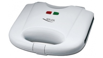 Adler Waffle maker AD 311 White, 700 W, Belgium, Number of waffles 2,
