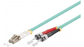 Goobay Optical fibre cable, Multimode (OM3) 95793 2 m, Turquoise