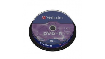 Verbatim DVD+R AZO Matt Silver 4.7 GB, 16 x, 10 Pack Spindle