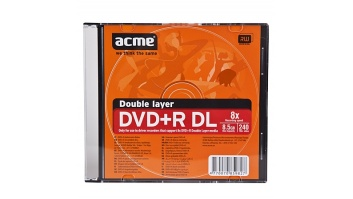 Acme DVD+R Double Layer 8.5 GB, 8 x, Slim Box