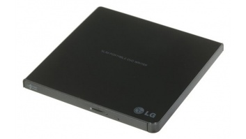 H.L Data Storage Ultra Slim Portable DVD-Writer GP57EB40 Interface USB 2.0, DVD±R/RW, CD read speed 24 x, CD write speed 24 x, Black, Desktop/Notebook