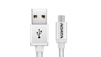 ADATA Sync and Charge Micro USB Cable, USB A, Micro-USB B, 1 m, Silver