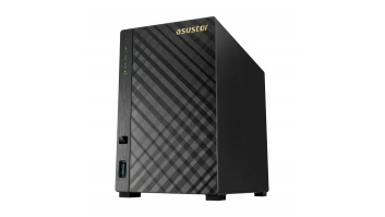 Asus Asustor Tower NAS AS1002T v2 up to 2 HDD, Marvell, ARMADA-385, Processor frequency 1.6 GHz, 0.512 GB, Black
