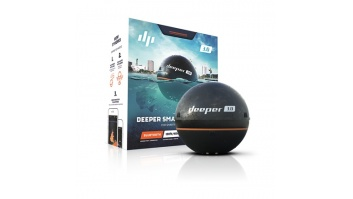 Deeper Smart Fishfinder Sonar Pro+, Wifi+GPS for iOS, Android Black