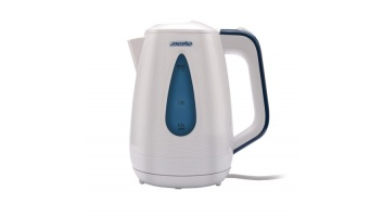 Mesko Kettle MS 1261 Electric, 2200 W, 1.7 L, Plastic, White, 360° rotational base