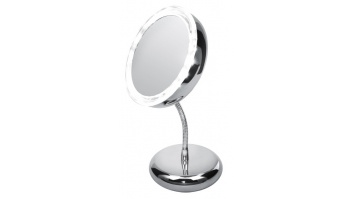 Adler AD 2159 Mirror, 4 AAA batteries, LED Lightening, Diameter 15 cm, Chrome