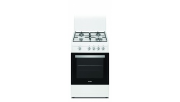 Simfer Cooker 4401SGRBB Hob type Gas, Oven type Gas, White, Width 50 cm, 49 L, Depth 55 cm, A+