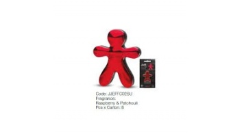 Mr&Mrs Car air freshener JEFF Raspberry&Patchouli, Chrome red