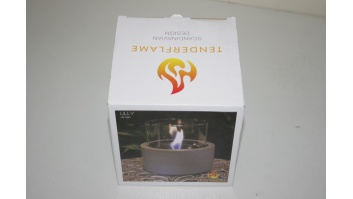 SALE OUT. TenderFlame, MgO, Lilly 12 cm Tenderflame Table burner Lilly MgO Grey, DEMO, USED