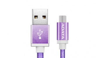 ADATA Sync and Charge Micro USB Cable, USB A, Micro-USB B, 1 m, Purple