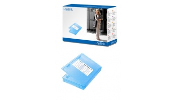 "2,5"" HDD protection box for 1 HDD, blue Logilink"