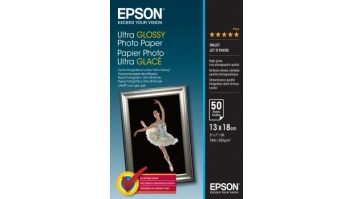 Epson Ultra Glossy Photo Paper 50 sheets, 13 x 18 cm, 300 g/m²