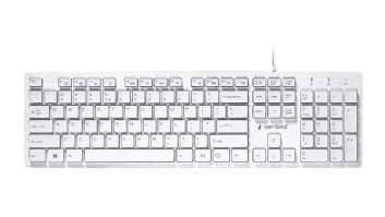 "Gembird Multimedia ""Chocolate"" Keyboard KB-MCH-03-W UBS Keyboard, Wired, Keyboard layout US, White"
