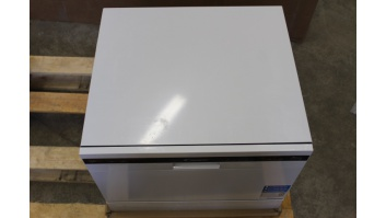 SALE OUT. Candy Dishwasher CDCP 6/E Table, Width 55 cm, Number of place settings 6, Number of programs 6, A+, White, DENT ON TOP, CRACK ON DOOR TOP
